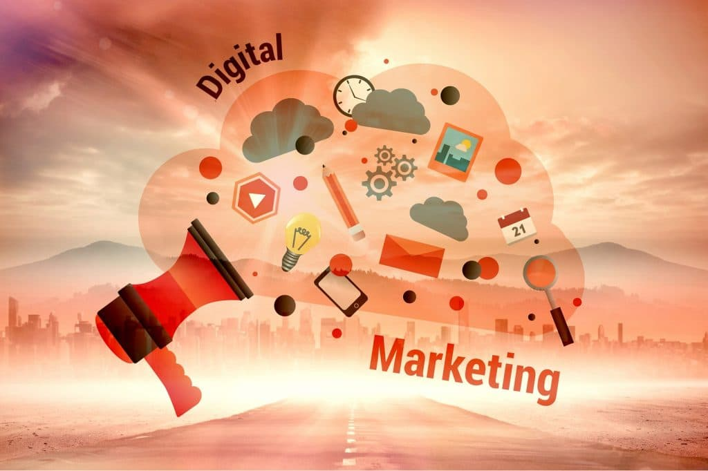Composite image of digital marketing graphic - Infintech Designs
