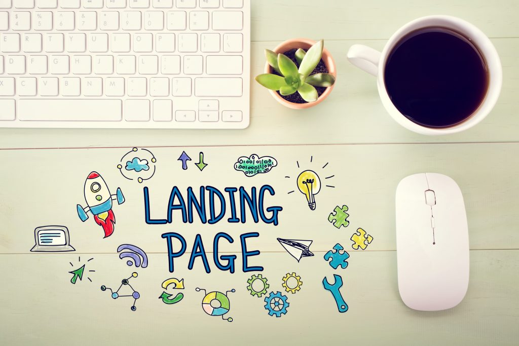 Landing page concept with workstation - Infintech Designs